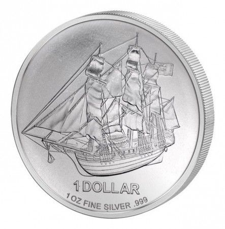 Buy 2009 Cook Island's 1oz Silver Bounty coin online