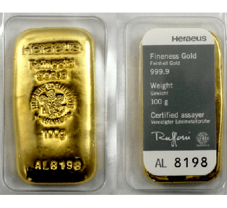 Buy 100 Grams Argor Gold Cast Bar 999 9 In Singapore Indigo