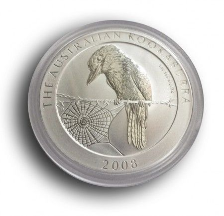 1oz silver Kookaburra 2008 coin, buy online with ipm group