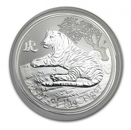 Buy silver 2oz lunar year of tiger series 2 with Indigo
