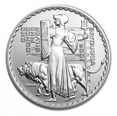 Buy 2001 UK 1oz Silver Britannia Proof coin online