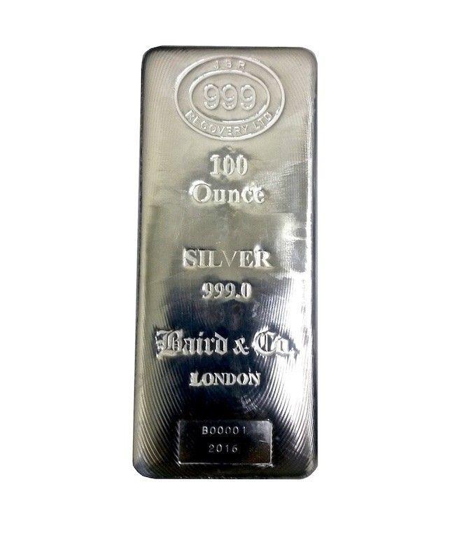Buy 100 Oz Silver Lbma Cast Bar 999 New In Singapore