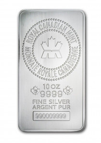 10 oz Silver Bar - RCM .9999 Fine (New Style) solely for Freeport storage or Singapore pickup.