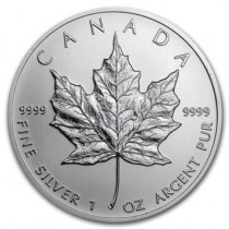 1oz Silver Maple Leaf Year Various | solely for Freeport storage or Singapore pickup