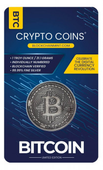 Buy 1 Toz Crypto Silver coin .999 Fine online