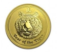 2010 Australia 1oz Gold Lunar Tiger BU .9999% (Series II) coin
