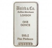 Baird Platinum Investment bar 1 ounce buy online