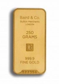 Baird gold investment bar 250 grams buy online