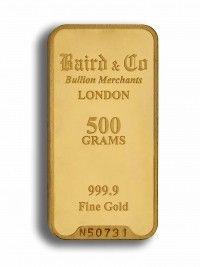 Baird gold investment bar 500 grams buy online