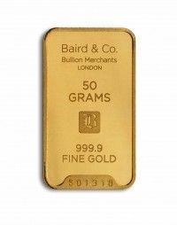 Baird gold investment bar 50 grams buy online