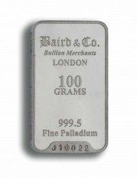 Baird Palladium Investment bar 100 grams buy online