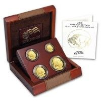 2008 Gold Buffalo 4-Coin Set BU (w/Box & COA)