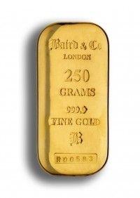 Baird gold cast bar 250 grams buy online