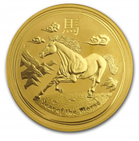 1oz gold Year of Horse, buy online with Indigo