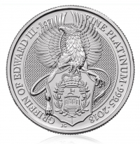 1oz platinum Griffin coin buy online