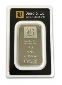 Buy 50 gram platinum bar Argor bar