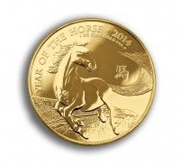 UK Mint year of the horse 2014 gold coin 1 ounce front buy online